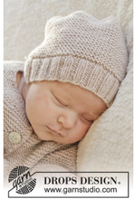 In my dreams by DROPS Design - Baby Mössa Stick-mönster strl. Prematur