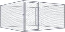 vidaXL Hundgård för utomhusbruk galvaniserat stål 2x2x1 m