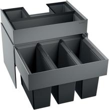 Blanco affaldssystem Select 60/3 Orga montering på låge med udtræk, 3 spande