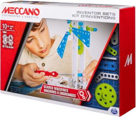 Meccano Bygg- och uppfinnarsats 3 Geared Machines