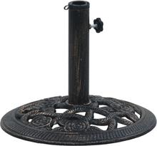 vidaXL Parasollfot svart och brons 9 kg 40 cm gjutjärn