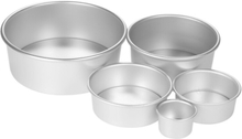 Pastry Cake 2/4/6/8/10 Inch Aluminum Cake Mold Round Mini Cake Pan Removable Non Stick Bottom Pudding Mold DIY Baking Tools