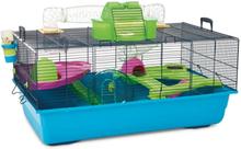 Hamster Heaven 80 -hamsterinhäkki - sini-vihreä: P 80 x L 50 x K 50 cm