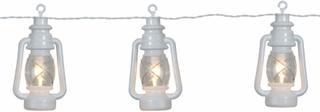Lanterna - lyslenke med 8 lykter, hvit
