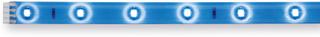 Your LED LED-band längd 97,5 cm, blåa LED-lampor