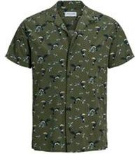 JACK & JONES Kubakrage - Kortärmad Skjorta Man Grön