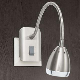 LED-plugglys Manvel med bryter, nikkel