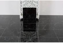 Carrara Black Blank klinke 15x15 cm