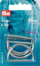 D-ringar silverfärg