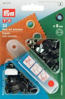 Öljetter mässing - svartaoxiderade 4-14mm (fler olika produktval)