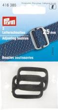 Justerspänne plast 25 mm - svart