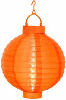 Orangefarget Solcelle lykten Jerrit med LED lys