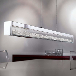 Cardito LED-pendellampe med Asfour-krystal 100 cm