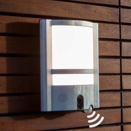Vesta Cam - udendørs-væglampe med sensor og kamera