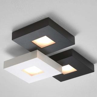 LED-taklampa Cubus med 3 ljuskällor, svartvit