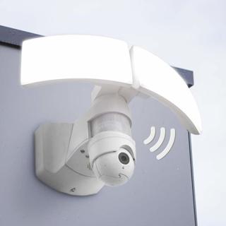 LED udendørs-væglampe Libra Cam med kamera