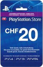 PSN Playstation Network Live Card CHF20 - (PlayStation 4, PlayStation 3 & Play Station Vita)