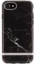 Mobilskal iPhone 6/6S/7/8, Black Marble, silver details