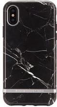 Mobilskal iPhone X, Black Marble, silver details