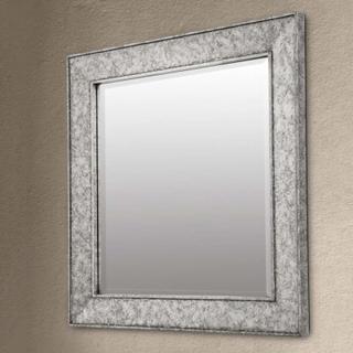 Spejlet Sverre kvadratisk, antik sølv