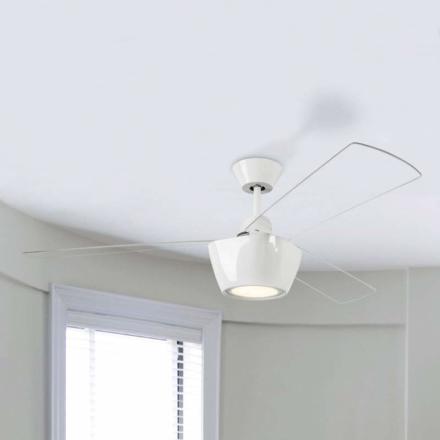 Moderne designet loftsventilator Ceos med LED