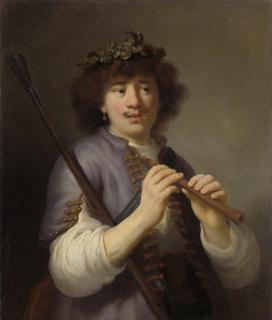 Rembrandt as a shepherd,Govert flinck,74.5x65cm