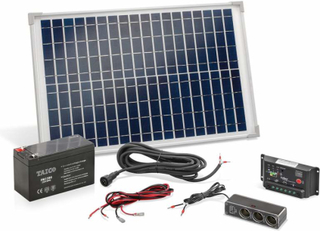 Ø-system 20 W solcelle strømsæt