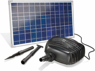 Garda solcelledrevet bassin-pumpesystem