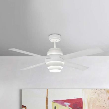 Effektiv loftventilator Disc med LED