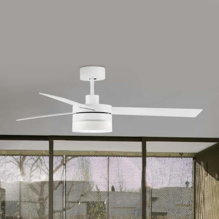 Med LED - trevinget loftventilator Ice