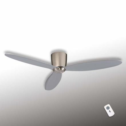 Eco Plano - loftsventilator, krom, sølvgrå