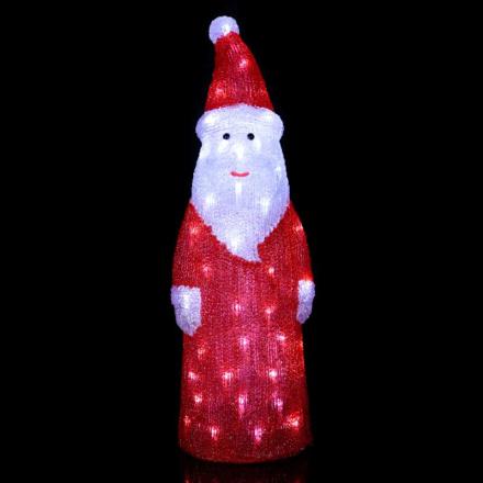 Dekorativ LED-figur Crystal Santa t. udendørs
