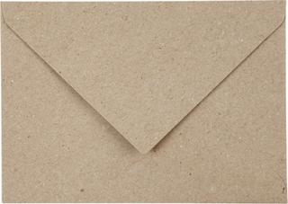 Kvistkuvert, C6 11,5x16 cm, 120 g, natur, 50stk.