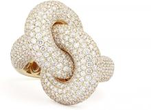 Engelbert Absolutely Fat Knot Ring Guld White Diamonds