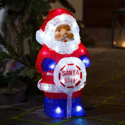 Integreret timer - LED-deko julemand, udendørs