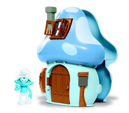 Smurfs - Mushroom House Brainy Smurf