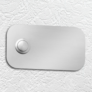 Fyrkantig platta för ringklocka av rostfritt stål