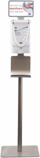 Deb Stoko stander til dispenser, med skilt og drypbakke, i galvaniseret stål