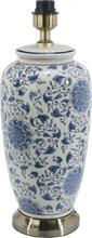Li Jing vit/blå lampfot 49cm (Blå)