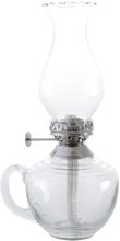 Fotogenlampa Låg m. Handtag (Silver)