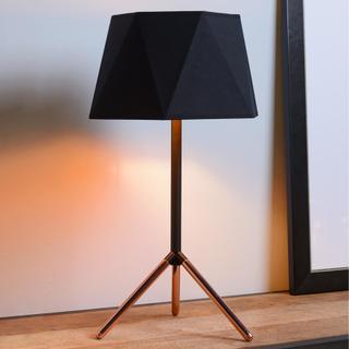 Geometrisk bordslampa Alegro med tygskärm