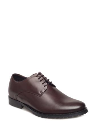Nano Derby Shoe Shoes Business Laced Shoes Brun ROYAL REPUBLIQ