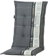 Madison Stolsdyna med hög rygg Garden 123x50 cm grå PHOSA056