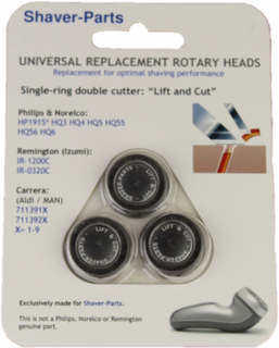 Universal Shaving heads For HP1915, HQ3, HQ4, HQ5, HQ55, HQ56 and HQ6