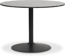 Plaza runt matbord - Grå marmor / svart