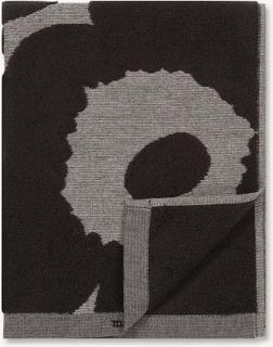 Marimekko - Unikko Jacquard Håndklæde 50x100cm, Sort/Beige