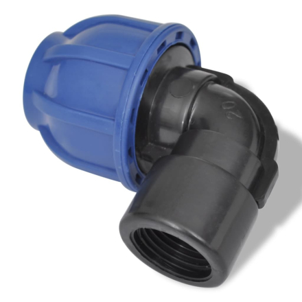 "vidaXL Slangekobling omløber 90 ° 16 bar 25mm til 1/2 ""2-pack"