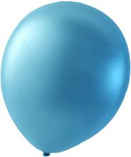 Sassier ballonger latex ljusblå metallic 24-pack