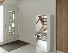 Luxury Shoe Cabinet 4 Drawers - With Mirror