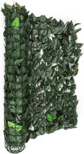 Fency Dark Leaf insynsskyddsstaket vindskydd 300x100 cm mörkgrön mix